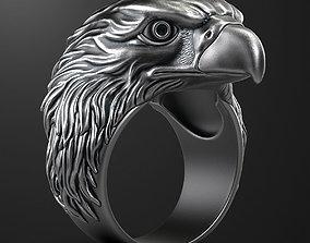 gold Eagle ring 3D print model