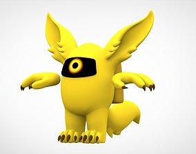 3D model Among Us Yellow Werewolf