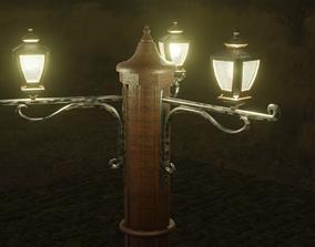 3D model lowpoly Street lamp