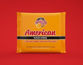 American Sliced Cheese OctaneRender Ready 3D