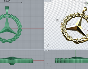 3D print model Mercedes -Benz logo pendant