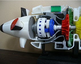 3D print model Turboprop engine parts