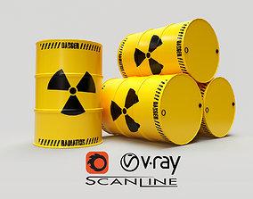 3D model Radioactive Barrels -
