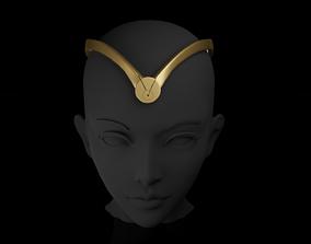 Thena Crown - Angelina Jolie headband - 3D print model 2