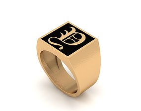 Old English Letter Ring Y 3D print model