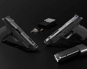 3D asset Tactical Smith and Wesson MP9 9MM Handgun