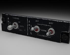 F16 ANTI ICE - ANTENNA SELECTOR Panel 3D