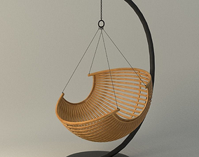 3D Wood Hanging Chair