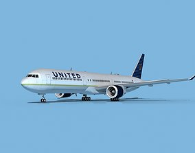 3D model Boeing 767-400 United Airlines 3