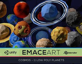 3D model Low Poly Cosmos Project - Planets