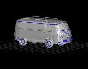 Volkswagon Hippie Van 3D model