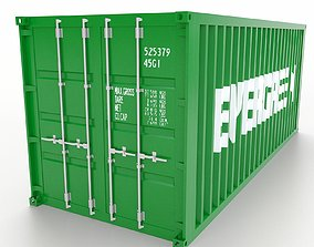 3D model realtime Shipping Container 20ft