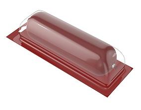 3D model Sausage plastic transparent packaging