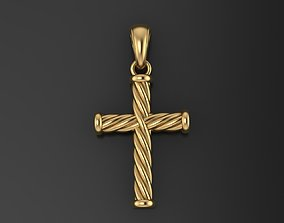 3D printable model Catholic cross with a rope