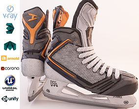 3D asset Metal and Plastic Hockey Ice Skate