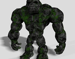 Stone Golem Rock Monster 3D Character animated realtime