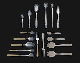 Cutlery Set 01 3D model