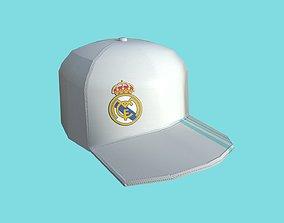 3D model Real Madrid Cap - Soccer Hat - Character Costume