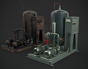 Machinery device motor 3D model PBR