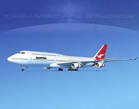 Boeing 747-8I Qantas 3D model