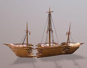 Wrecked Ship 3D asset