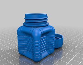 Bottle and Screw Cap dining 3D printable model
