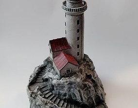 3D print model Lighthouse on a rock