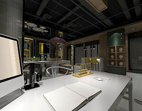3D Office meeting room reception hall 07