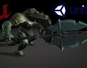 Crocodile Guardian 3D asset animated