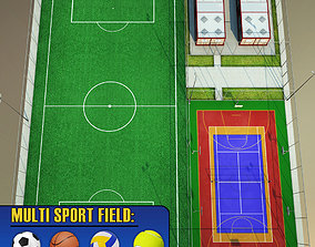 Sport court arena centre pack 3D