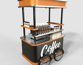 Coffee Stall Booth 3D