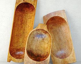 3D Antique Dough Bowls 5