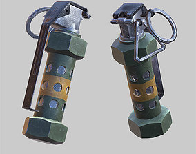 3D asset Flashbang grenade animated 1st person