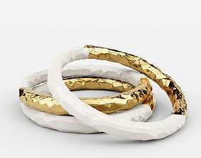 Enamel and Gold Plated Bangle 3D model