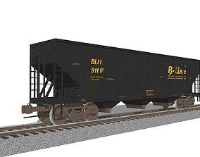 3D model Railroad Train Car - Coal Hopper