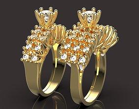 3D print model solitaire ring gem