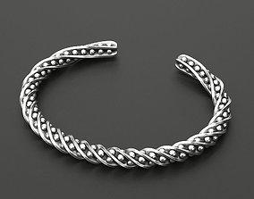 3D printable model Twisted man bracelet