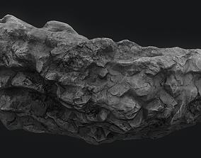 rock 3D model Meteor Asteroid Rock 4K
