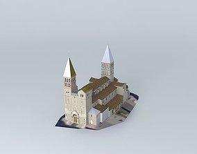 Abbaye Saint Philibert 3D model