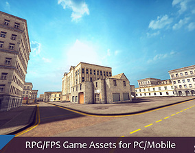 RPG FPS Game Assets for PC Mobile Buildings Set 3D model