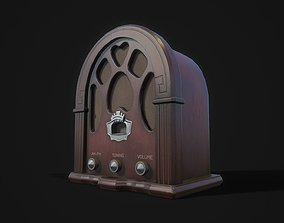 3D model Wooden radio receiver
