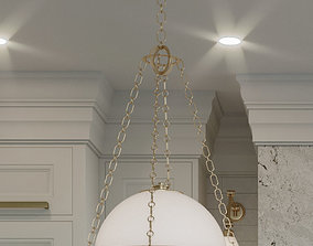 3D model union lighting pendant with chains