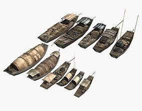 Chinese Boat Collection 01 3D