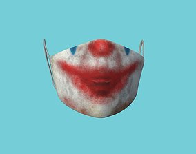 3D model Joker Clown Covid Mask CGI - Character Fashion