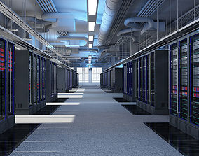 Data Communication Server Room 3D model