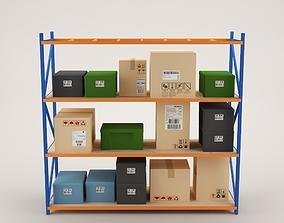Warehouse Rack Storage 04 3D model