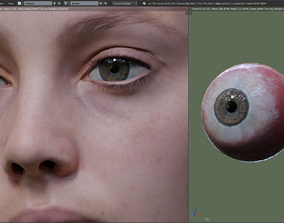 Realistic 3D hand painted Eyes game-ready