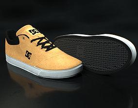Realisitc DC Shoes Crisis - Beige 3D model