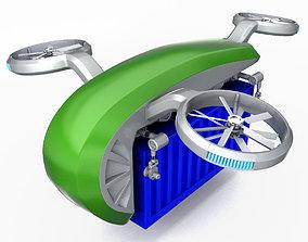3D Cargo Quadrocopter Dron Concept 02
