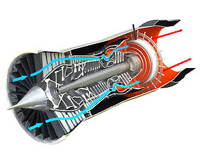 P W F100 cutaway 3D model
